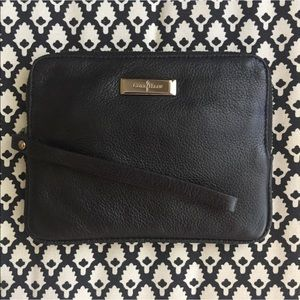 NWT Cole Haan Black Leather Wristlet